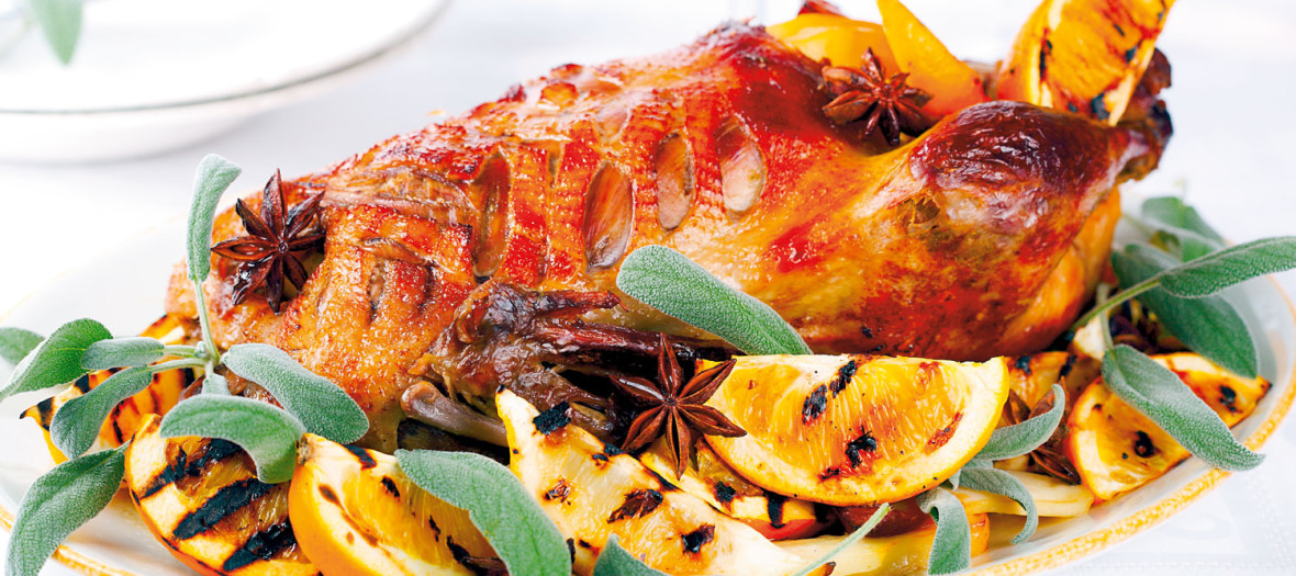 14434_PATKA-S-POMORANDZAMA2stock-photo-roast-duck-with-orange-anise-and-ginger-on-a-white-background-shutterstock_64208986
