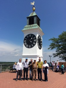 Bruxelles Delegation at Novi Sad Clock Tower