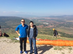 Guests from Berlin on a Paragliding Tour