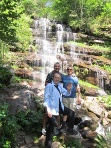 Guests from London at Tupavica Waterfalls