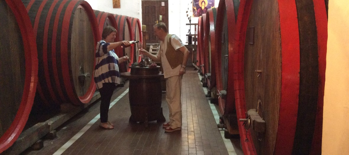 Lady from Israel at Malča Vinery